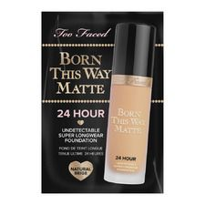 Born This Way Matte 24 Hour Long Wear Foundation #Natural Beige 1ml., Sachet
